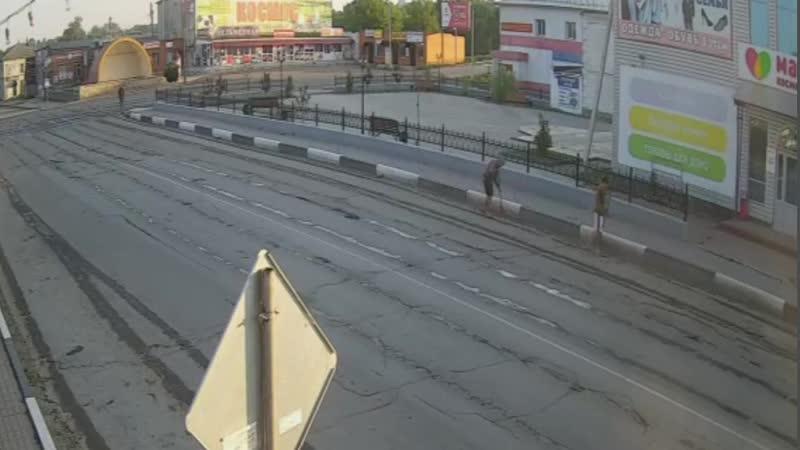 Уборка улицы в Михайлове