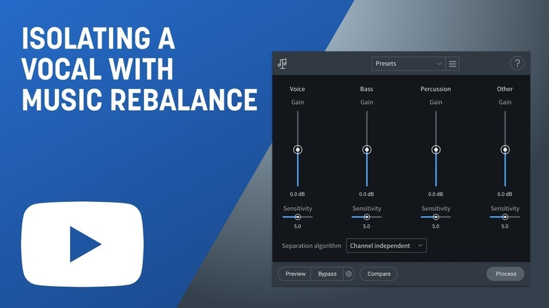 Isolate a Vocal with Music Rebalance in RX 7