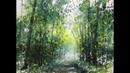 Summer Woods: Morning Mist (22 x30 ) by Sumiyo Toribe