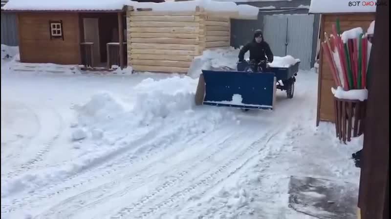Самодельная снегоуборочная машина (ВоК)