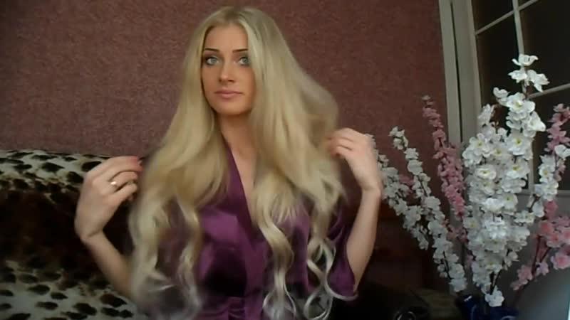 Как плести косу из волос на заколках