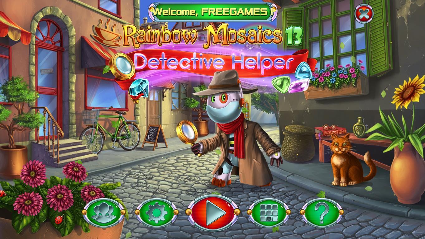 Радужная Мозаика 13: Помощник Детектива | Rainbow Mosaics 13: Detective Helper (En)