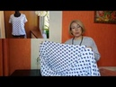 Как сшить женскую футболку без выкройки с втачным рукавом Завязка бант по низу футболки