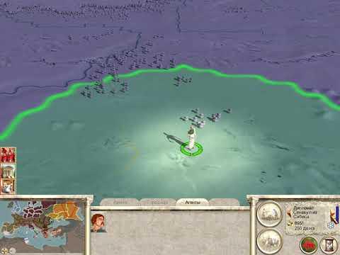 Rome Total War За Галлов 4 Бескровный бой и мятеж