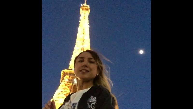 Ночная Эйфелева Башня