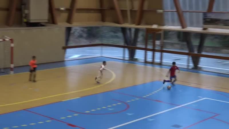 Futsal, finale football tournoi en salle, u11, Monaco contre La Garde, 3 buts marqués