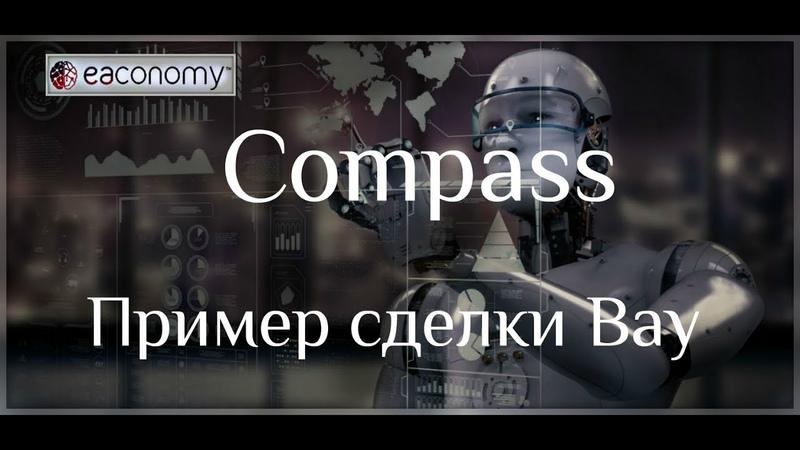Compass. Пример сделки - Нисходящий клин на Buy
