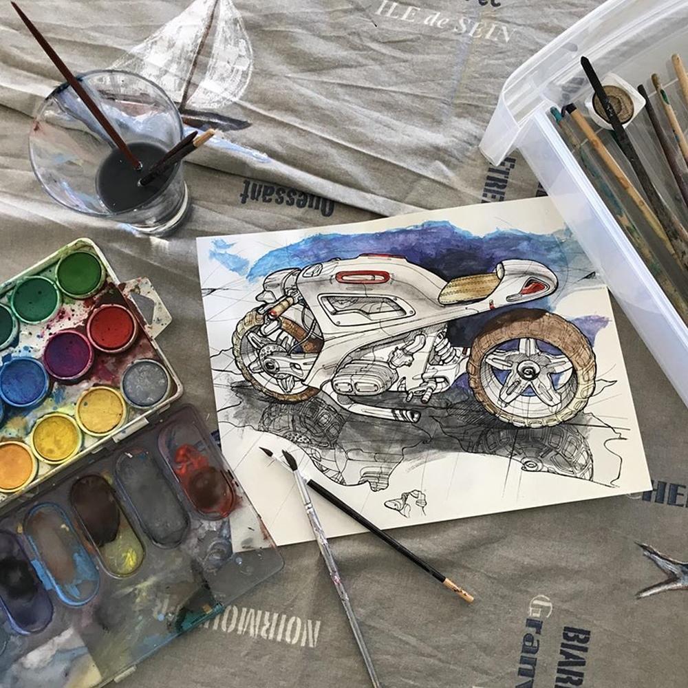 Тилл Вараилхон - мото рисунки и скэтчи