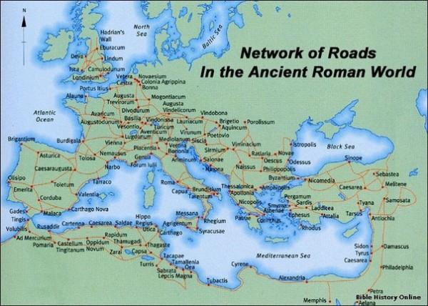 Дорожная сеть и Римская почта.