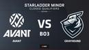 RU AVANT vs Grayhound Map 2 Mirage Asia Minor Oceania Closed Qualifier StarLadder Majo