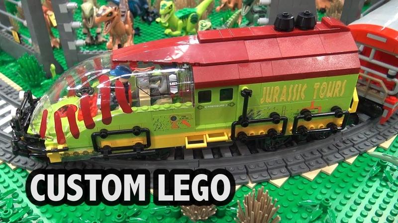 LEGO Jurassic Park with Train | Bricks Cascade 2019