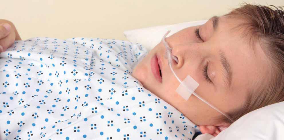 Носовая канюля часто используется для доставки дополнительного кислорода