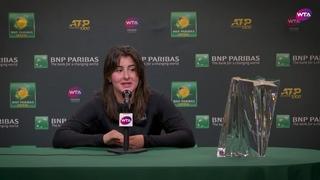 Bianca Andreescu   2019 BNP Paribas Open   Final   Press Conference