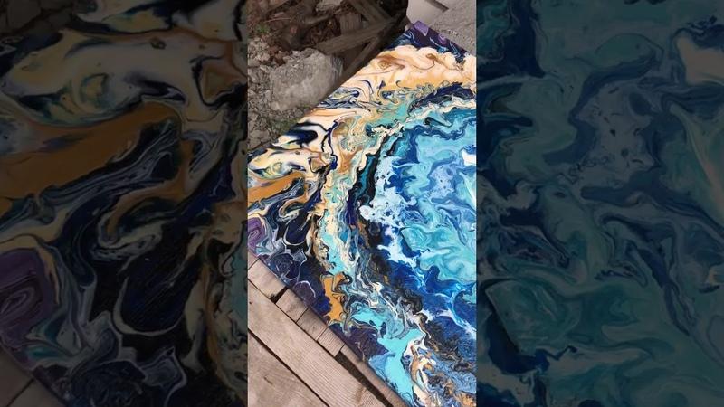 Отзыв ученицы Александры Сиволобовой с курса по жидкому акрилу Fluid Art 2.0 от Арт Лаб Онлайн