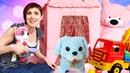 Маша Капуки Кануки кормит котенка и щенка Развивающее видео для детей