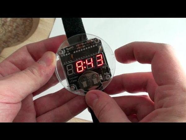 Assembling the Solder Time LED Watch Kit