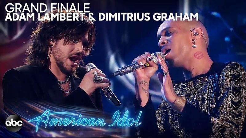 Adam Lambert Dimitrius Graham Perform Bohemian Rhapsody by Queen - American Idol 2019 Finale