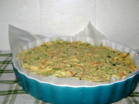 Пирог с кабачками и сыром.