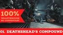 Wolfenstein The New Order Walkthrough Über difficulty,All Collectibles part1 DEATHSHEADS COMPOUND