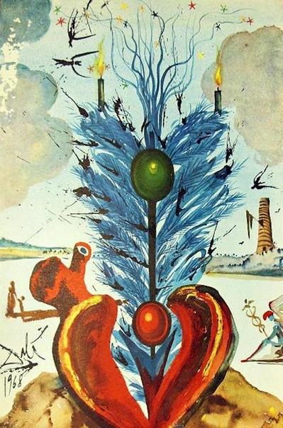 РОЖДЕСТВЕНСКИЕ ОТКРЫТКИ САЛЬВАДОРА ДАЛИ С 1958 по 1976 год клиенты компании Hoechst Iberica, основанной в Барселоне, получали рождественские открытки, автором которых был Сальвадор Дали.