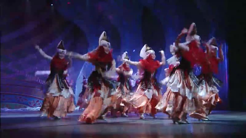 A beautiful performance with Kazak ethnic characteristics