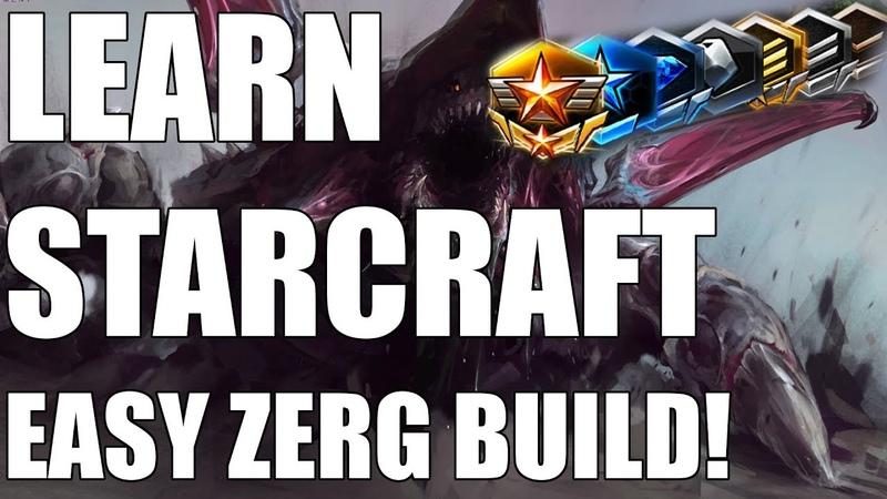 Learn Starcraft - Zerg Beginner Build Guide Gameplan! [2018]
