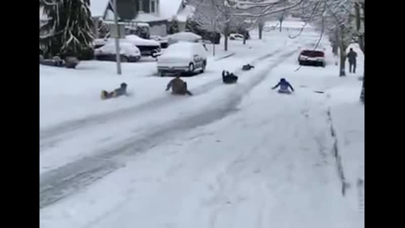 BothellPolice Someone called the police on kids sledding into a dangerous area so they went to 'investigate...