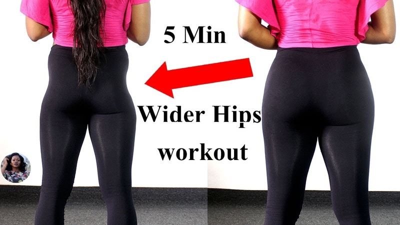 5 MINUTES WIDER HIPS WORKOUT NO EQUIPMENT REQUIRED Hip Dips Fix ABIGAIL EKWEGHI