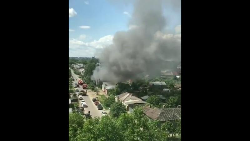 Пожар в Тамбове на улице Московской