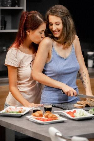 SexArt - Behind The Scenes: Birthday - Paula Shy and Emylia Argan
