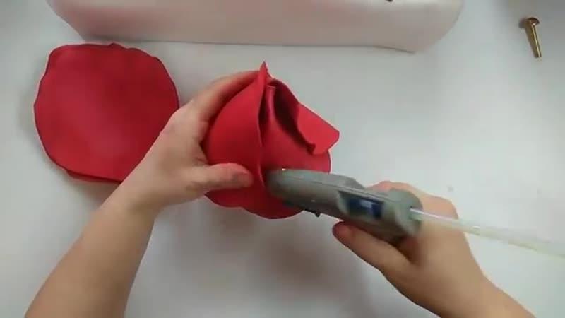 Как я делаю большие розы из фоамирана D=55см D=45 D=35 и бутоны