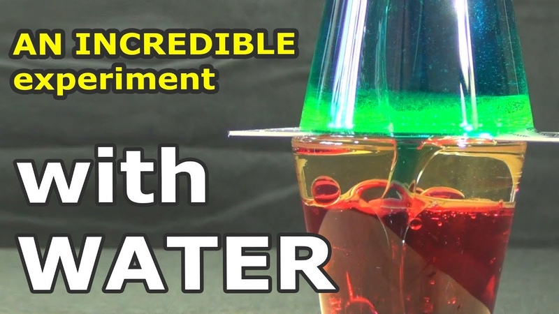 AN INCREDIBLE experiment with water that can be repeated at home