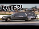 We found a HEARSE at the drag ITS FAST