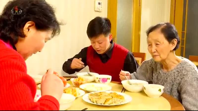 건강남새 푸초와 만두