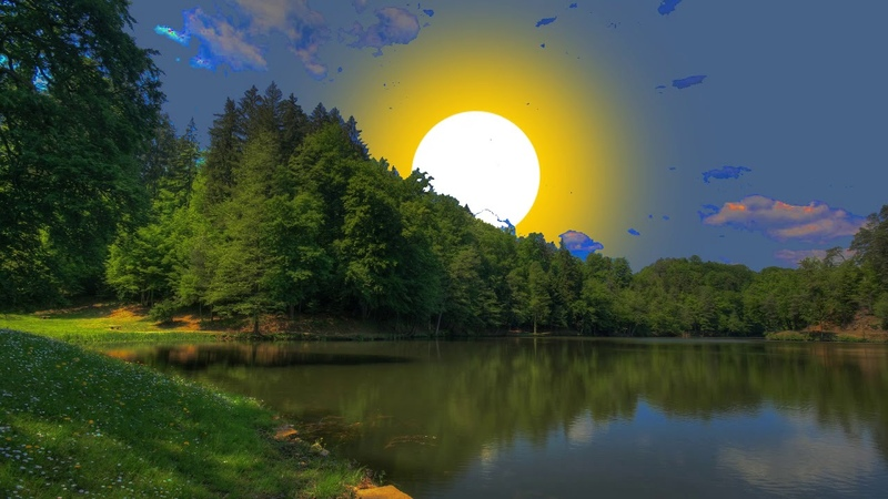 Sunrise, nature, good weather. Relax, meditation, optimism. Восход солнца, природа, релакс.