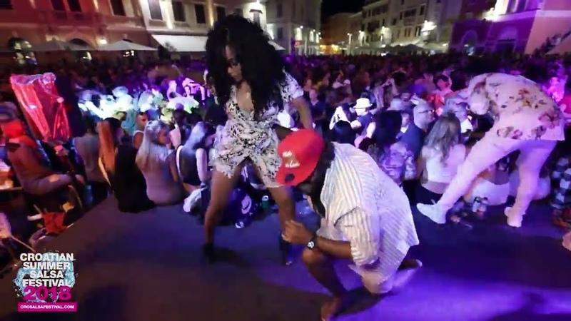 Moe Flex Yanet Fuentes dancing @Croatian Summer Salsa Festival, Rovinj 2018