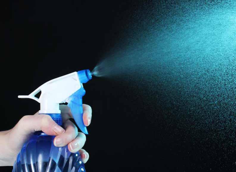 Смачиваемый порошок может забить распылительные флаконы насосов, поэтому их следует регулярно встряхивать