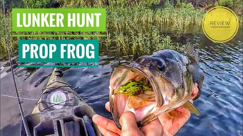 Lunker Hunt 'Prop Frog' Topwater Bass Fishing