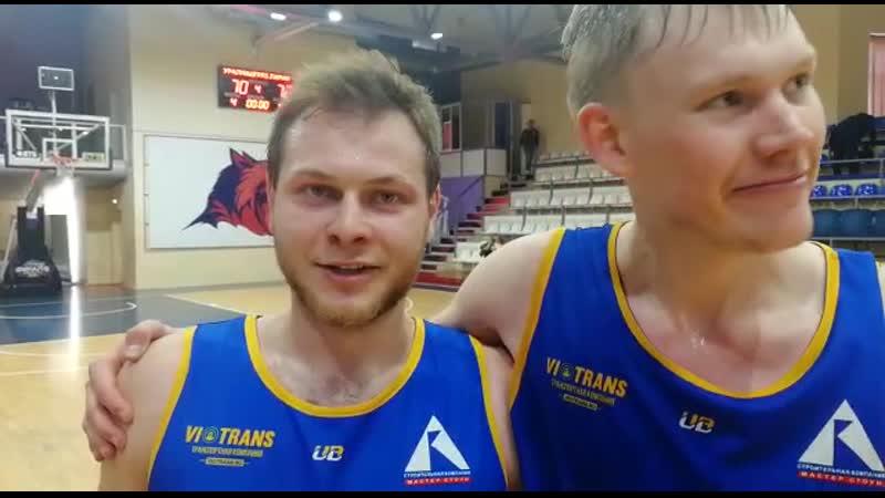 Блиц-интервью Вячеслава Заботина и Артема Беклемишева
