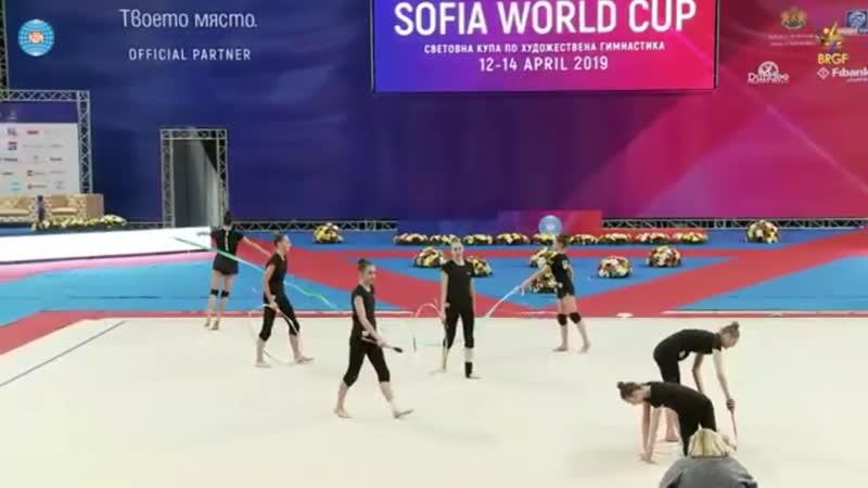 Анастасия Салос - лента (опробование) - Кубок Мира София 2019
