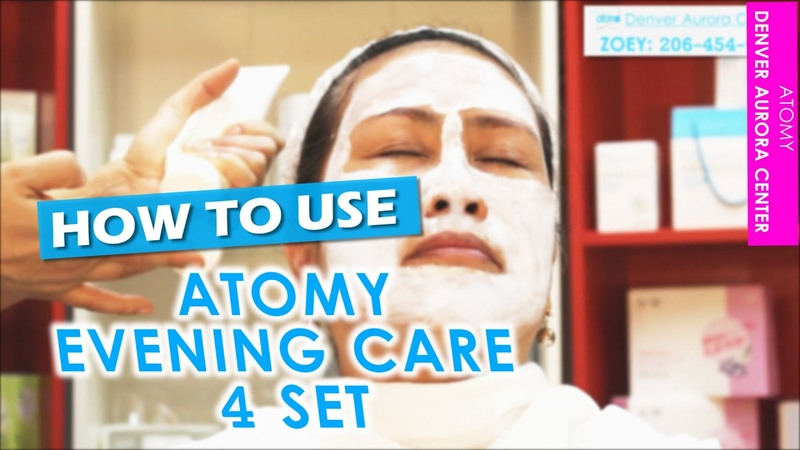ATOMY EVENING CARE 4 SET DEMONSTRATION | (Atomy Denver Aurora Center Zoey)