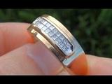 CERTIFIED Men's Diamond &amp 14kt Gold Ring - Top Quality VSG Diamonds - Auction