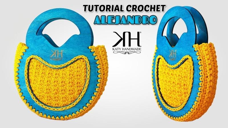 TUTORIAL BORSE UNCINETTO CON CORNICI IN LEGNO - Alejandro Crochet Bag ♡ Katy Handmade