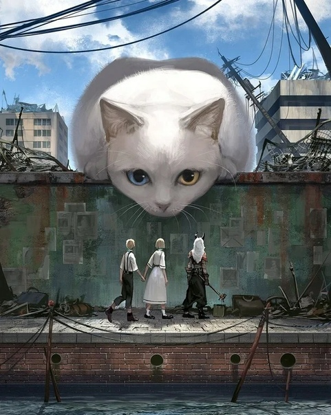 Монокубо (известна также в сети под псевдонимом Aridua55 это японская художница, о которой информации довольно мало. Главная тема ее работ, которая и помогла стать известной изображение животных