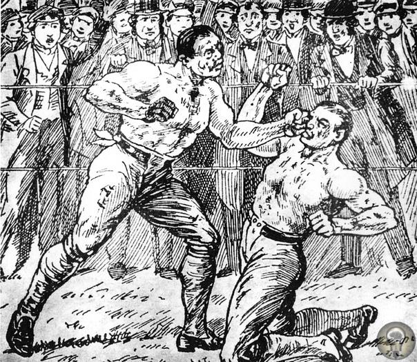 Без перчаток, весовых категорий и под дождем: как боксировали в старину.