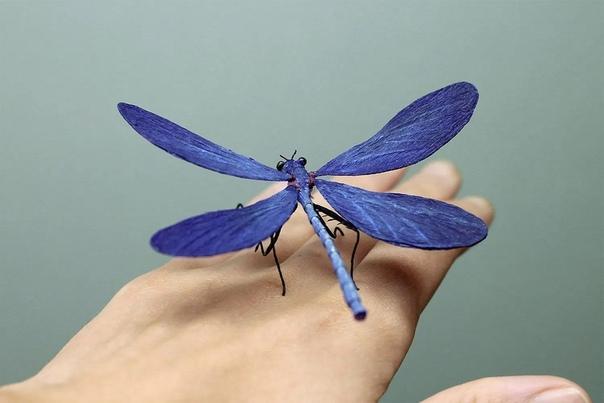 Животные и насекомые сделанные из бумаги. Автор: Tina raus
