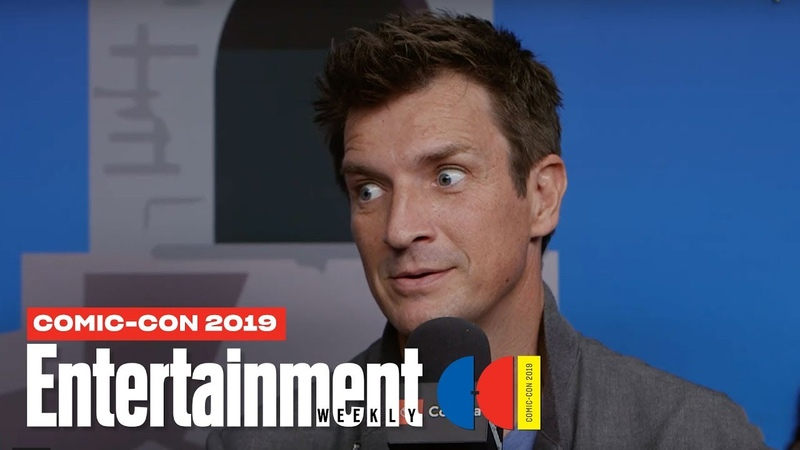 'The Rookie' Stars Nathan Fillion, Melissa O'Neil Cast LIVE | SDCC 2019 | Entertainment Weekly