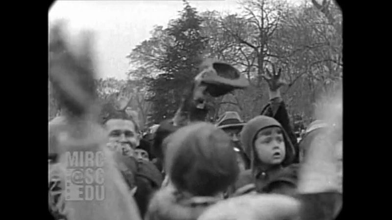 Apr 1929 - Crowds Gather For The White House Easter Egg Roll (real sound)