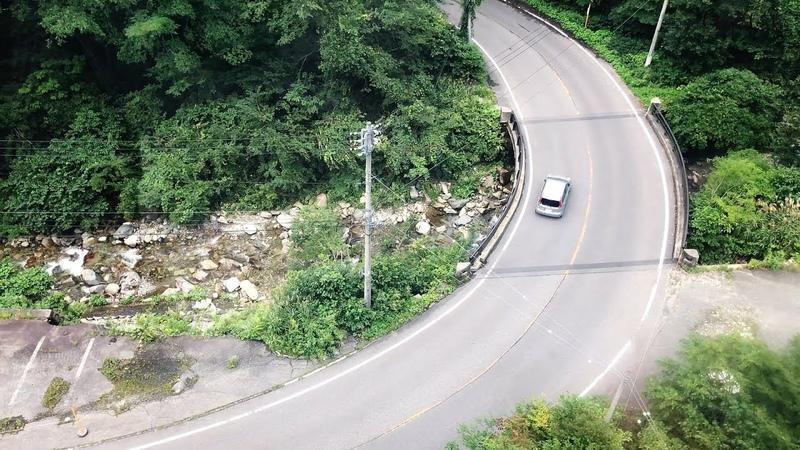 Горные дороги в Японии на примере проселочных хайвеев