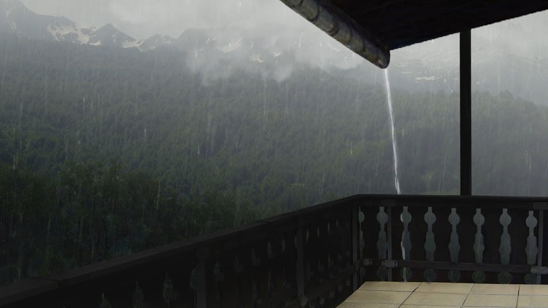 Rain From The Balcony | Thunderstorm Sounds for Relax, Sleep | Thunder Rain Ambience, Meditation